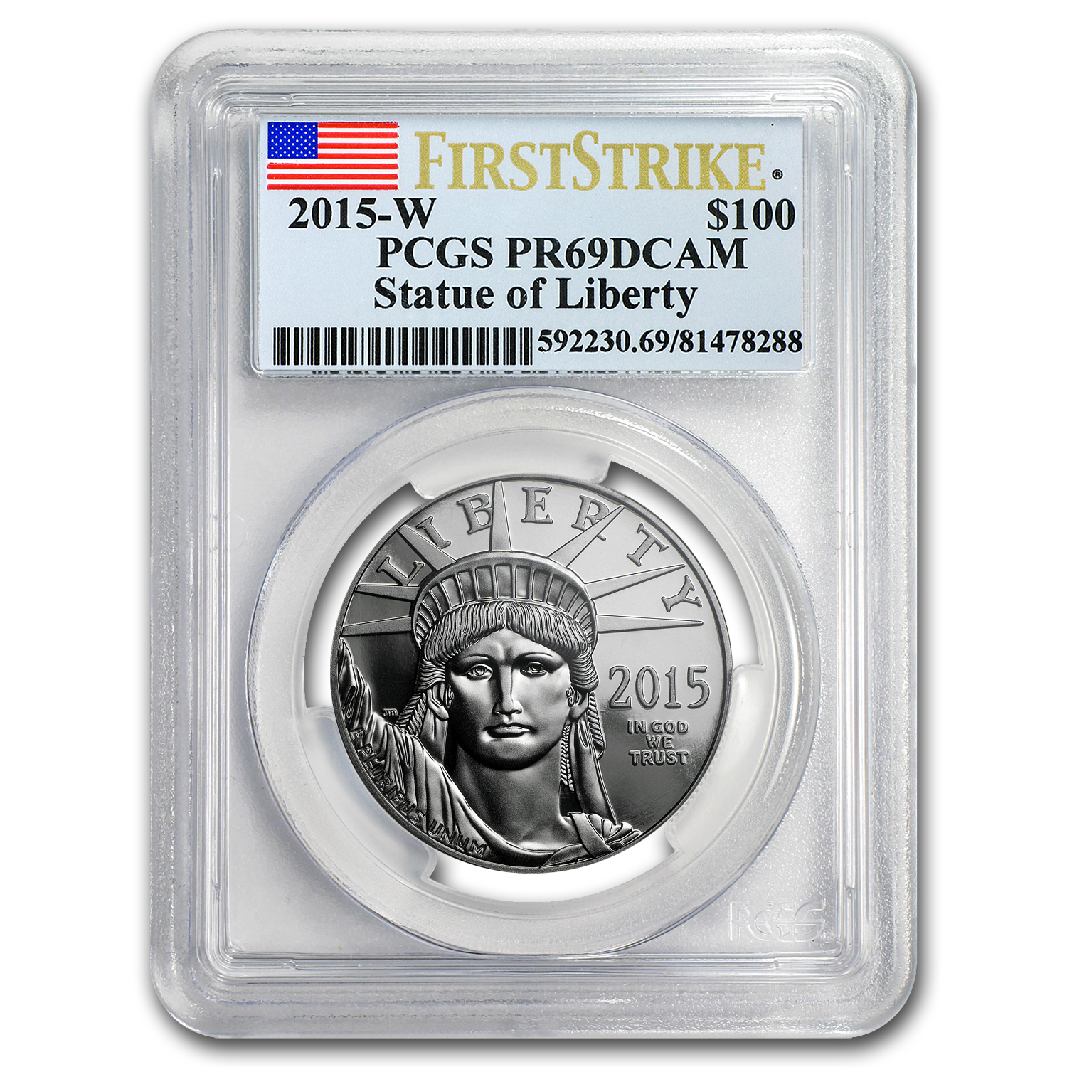 2015-W 1 oz Prf Platinum American Eagle PR-69 PCGS (First Strike)