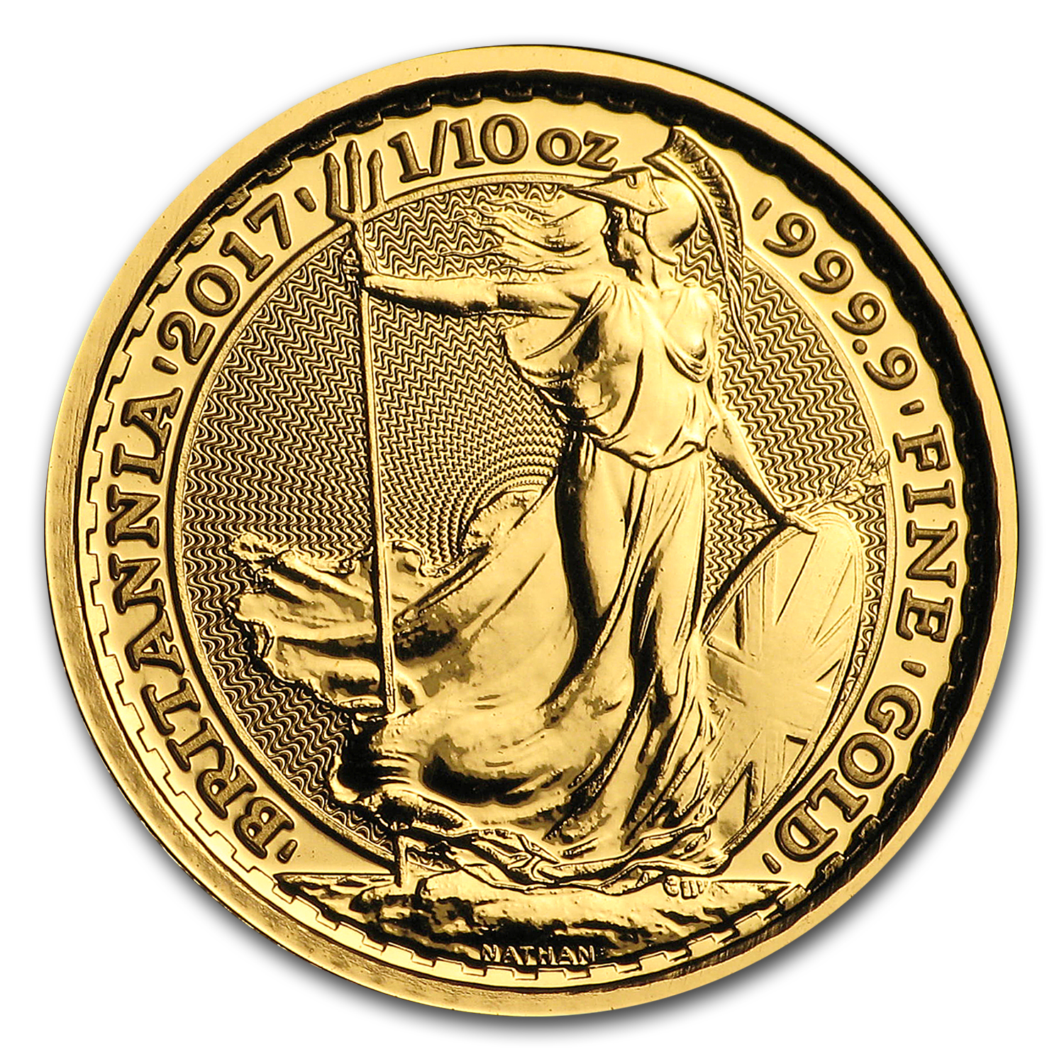 2017 Great Britain Gold 1/10 oz Britannia BU