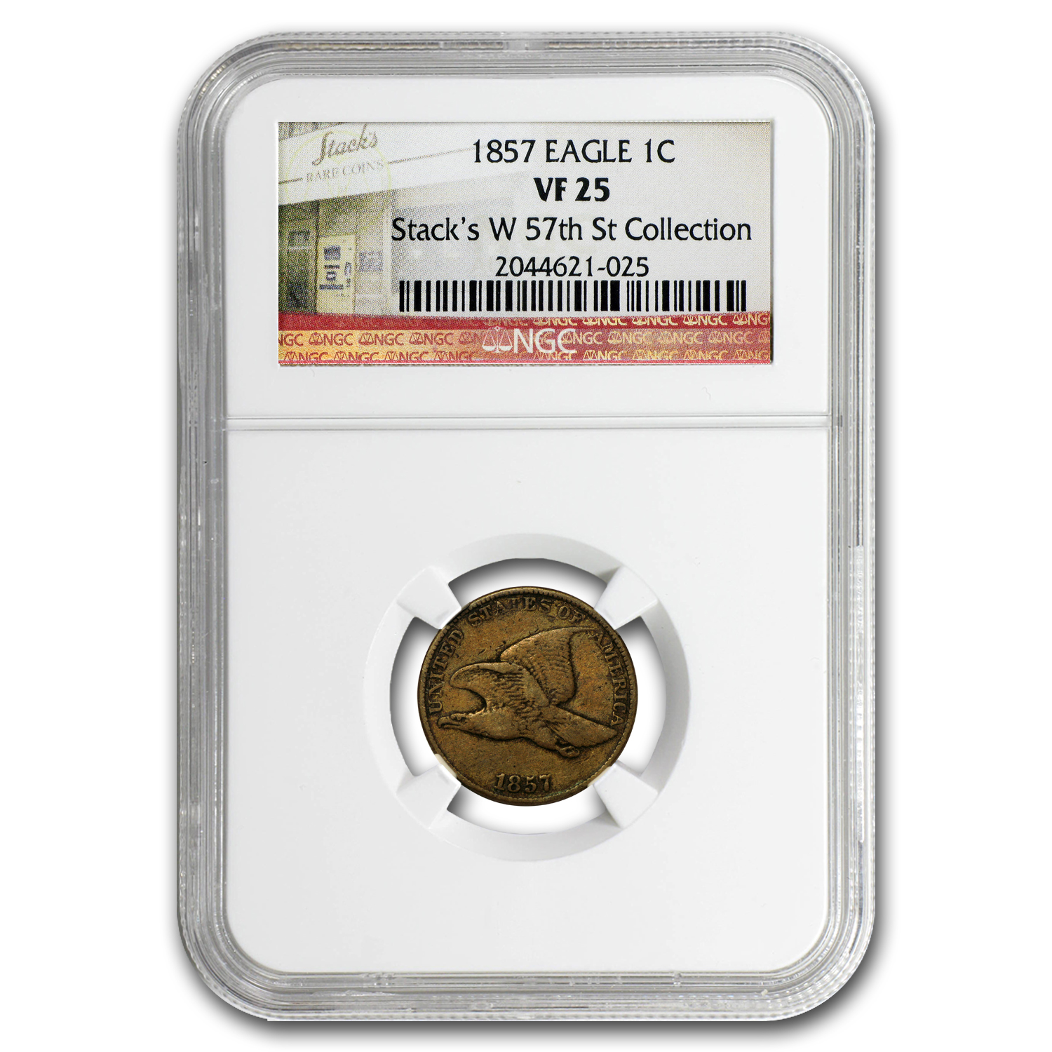 1857-1858 Flying Eagle Cents VF (NGC)
