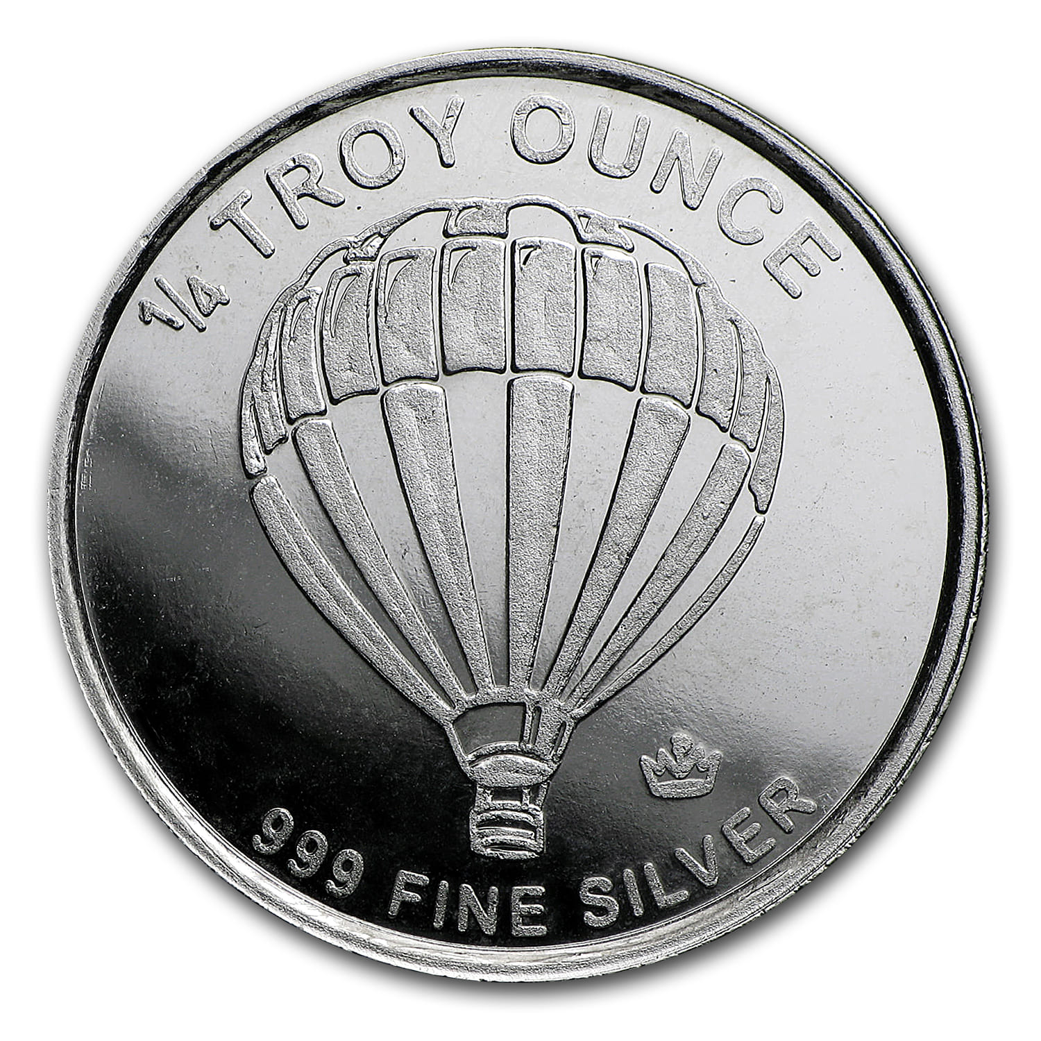1/4 oz Silver Round - Monarch Precious Metals (Hot Air Balloon)