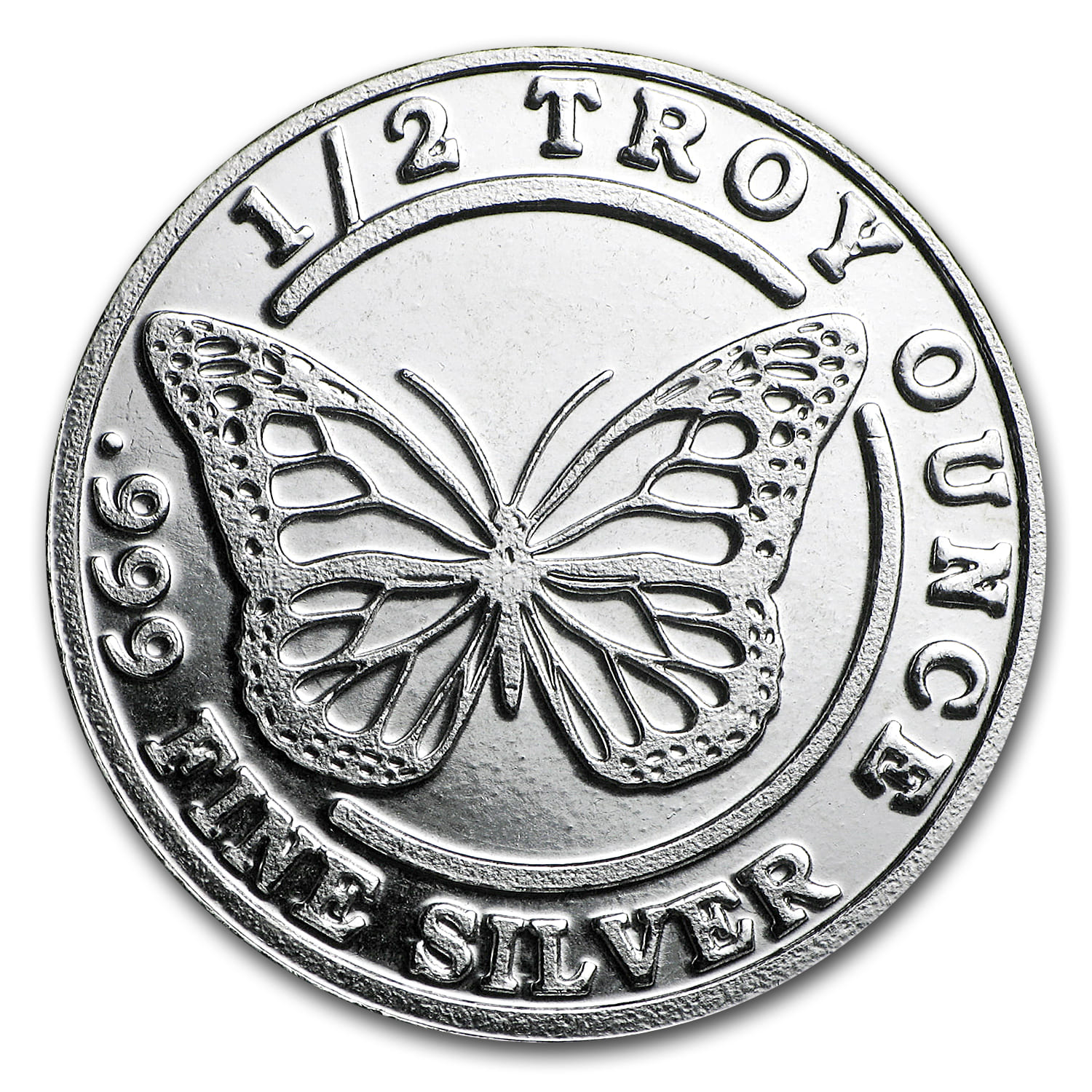1/2 oz Silver Round - Monarch Precious Metals (Monarch Butterfly)