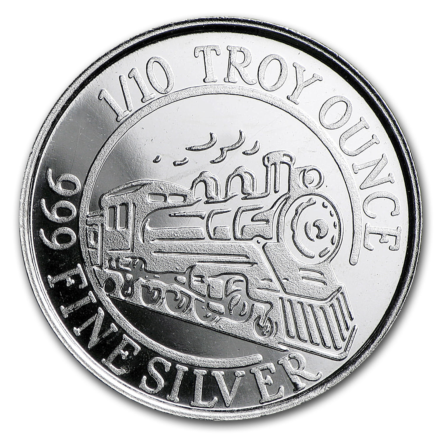 1/10 oz Silver Round - Monarch Precious Metals (Steam Train)