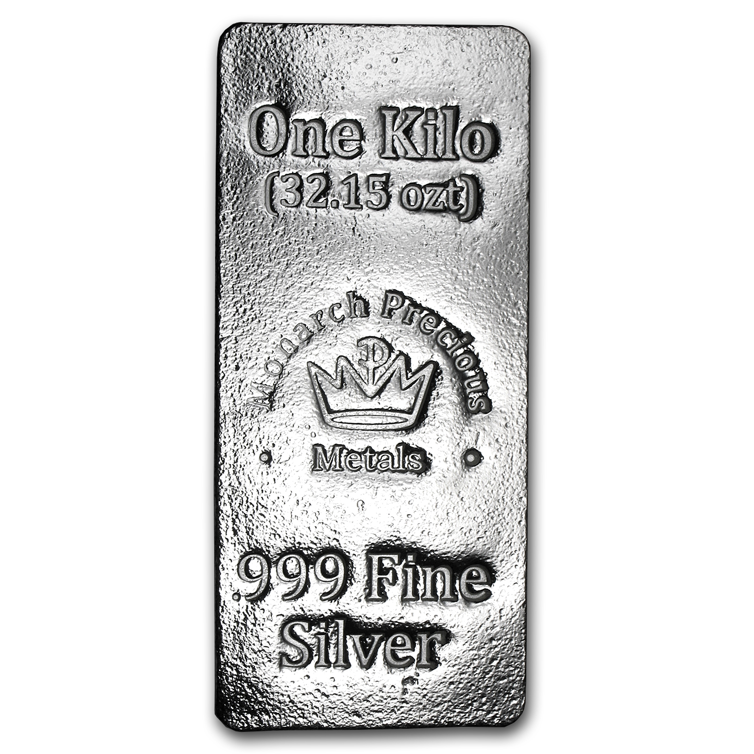 1 kilo Silver Bar - Monarch Precious Metals