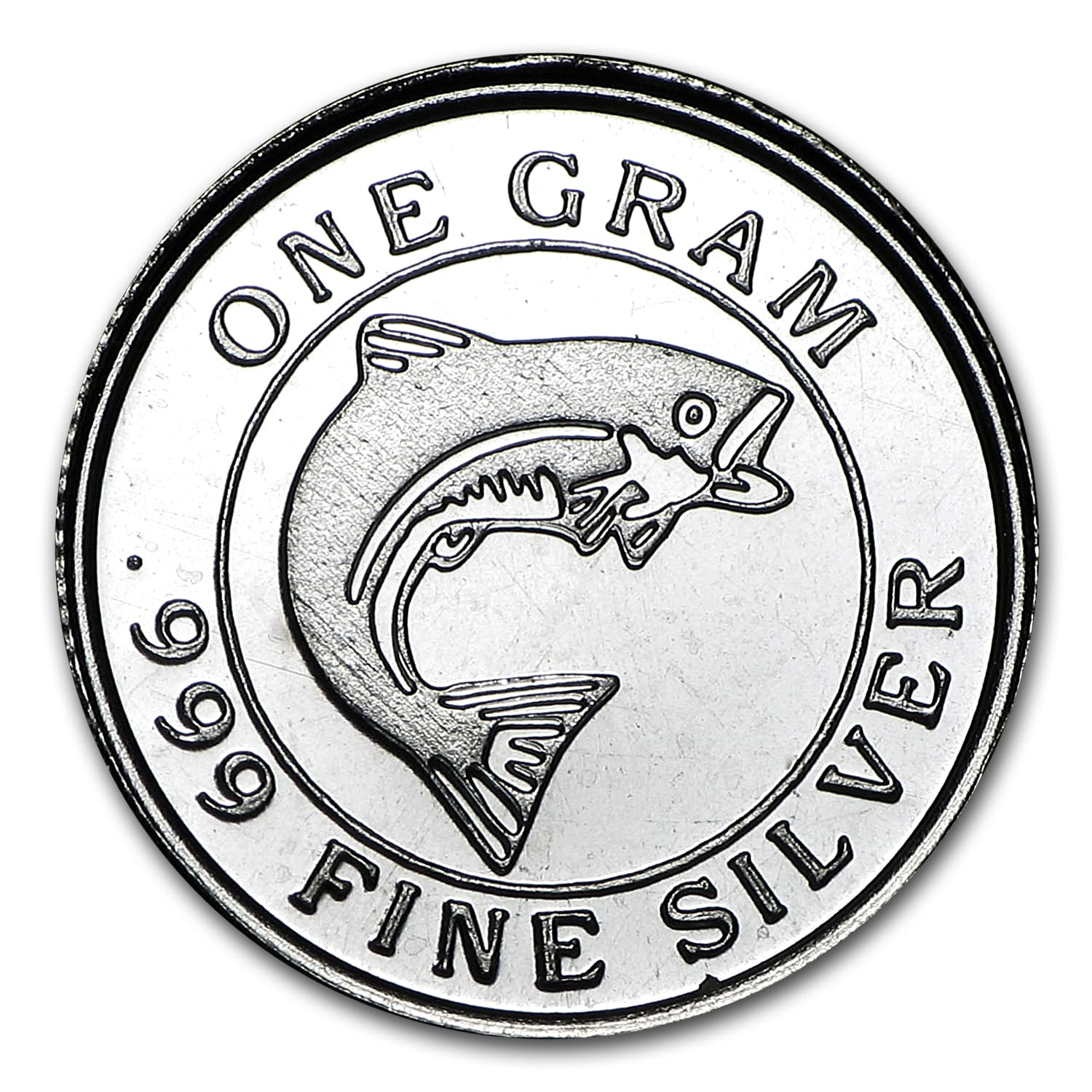 1 gram Silver Round - Monarch Precious Metals (Salmon Fish)