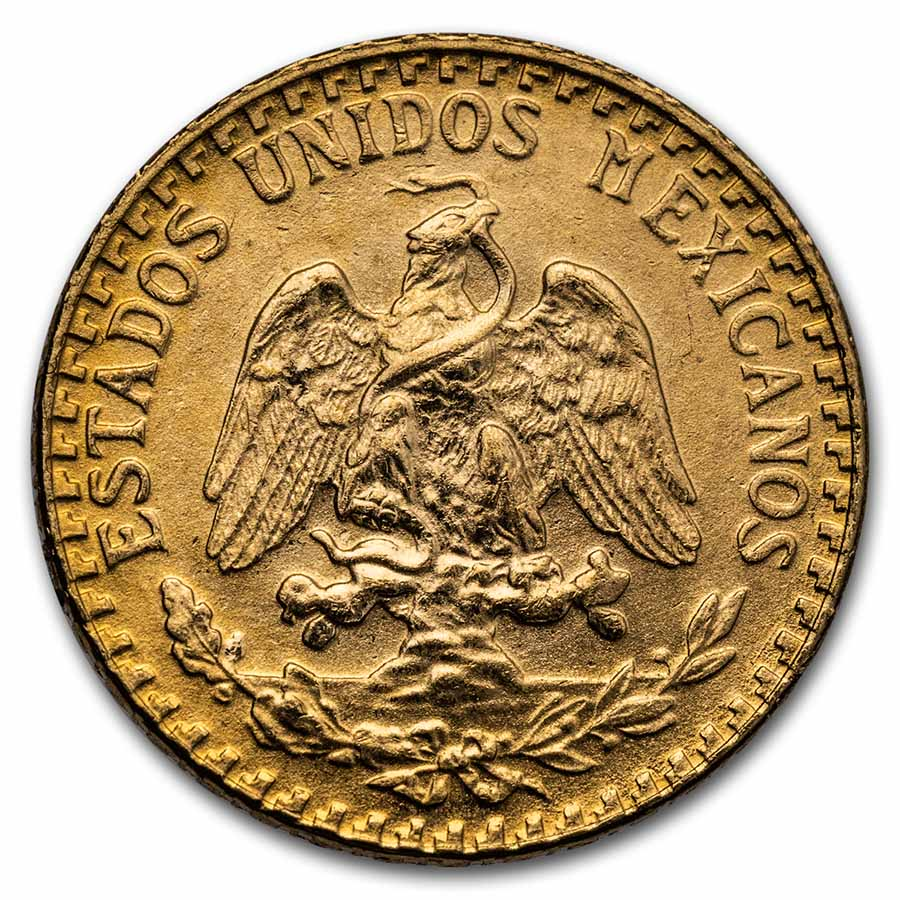 Mexican Gold 2 Pesos AGW .0482 (Random Year)