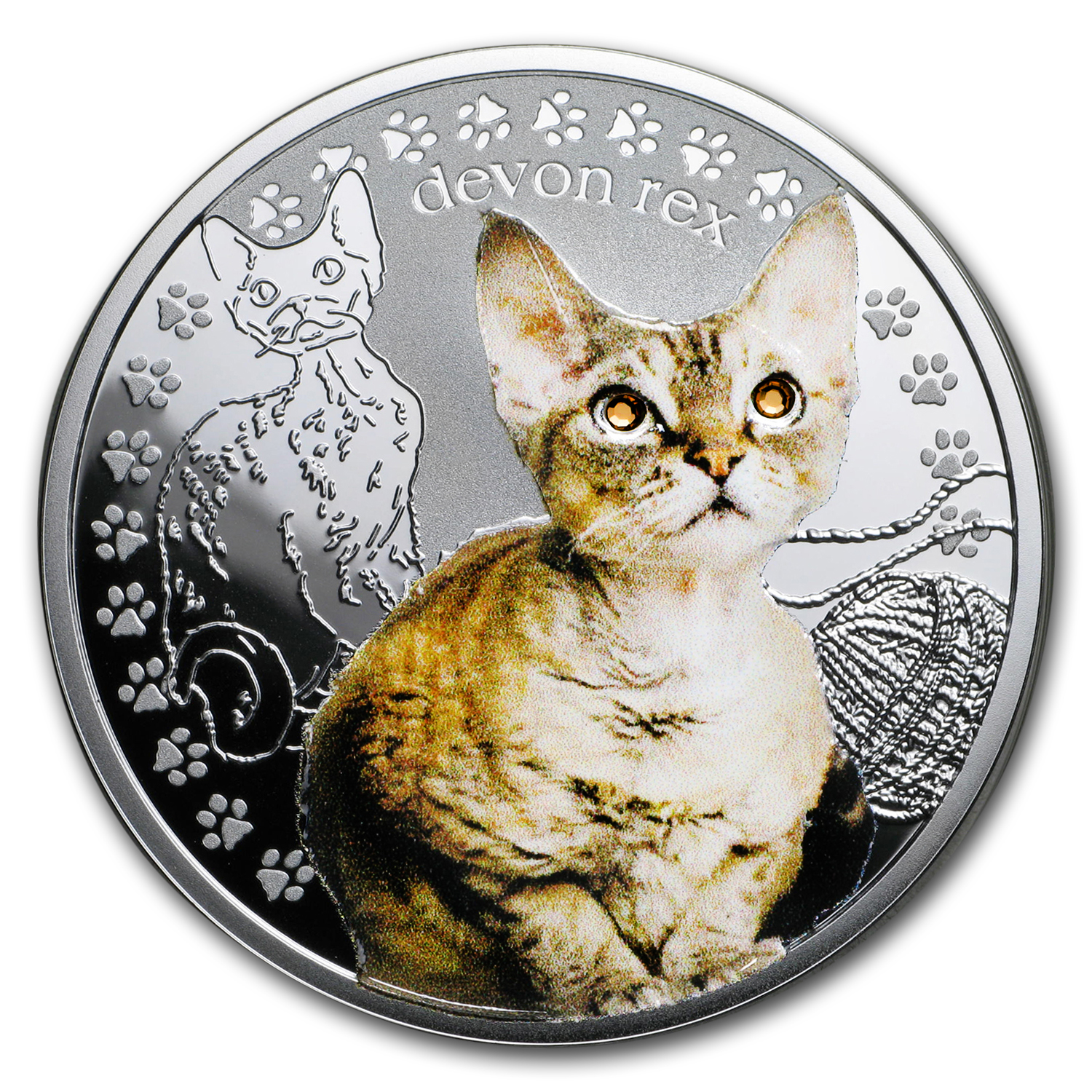 2016 Niue Proof Silver Man's Best Friends Cats Devon Rex