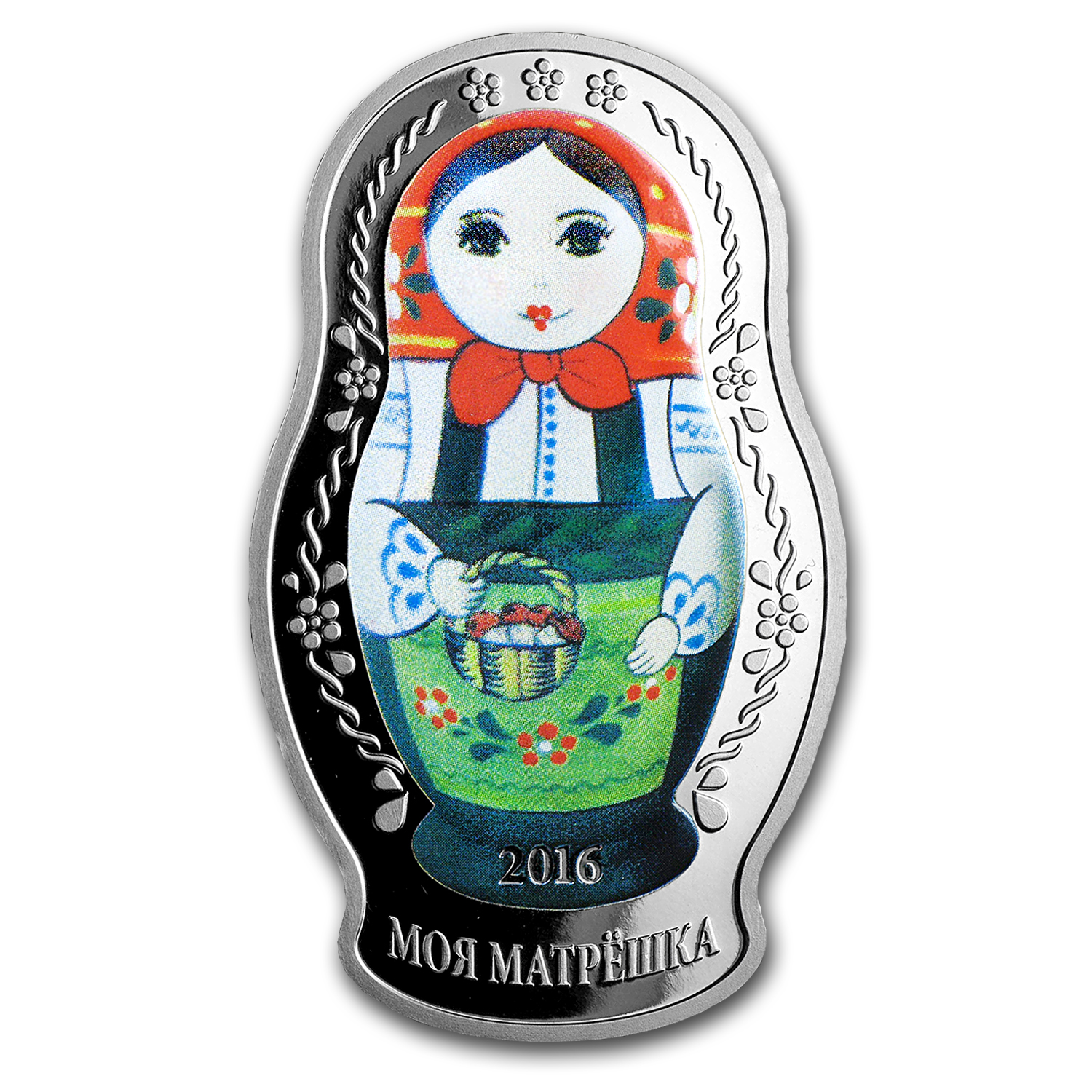 2016 Solomon Islands 1 oz Silver Proof Matryoshka Nesting Doll