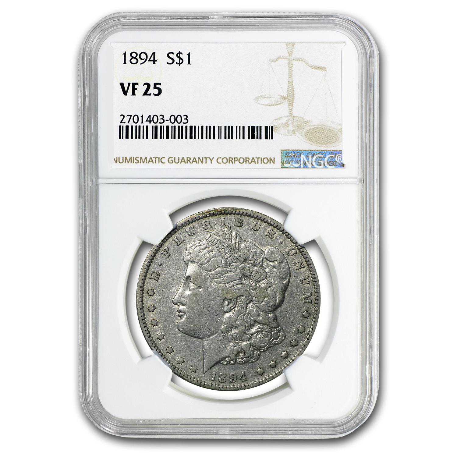 1894 Morgan Dollar VF-25 NGC (Semi-Key Date)