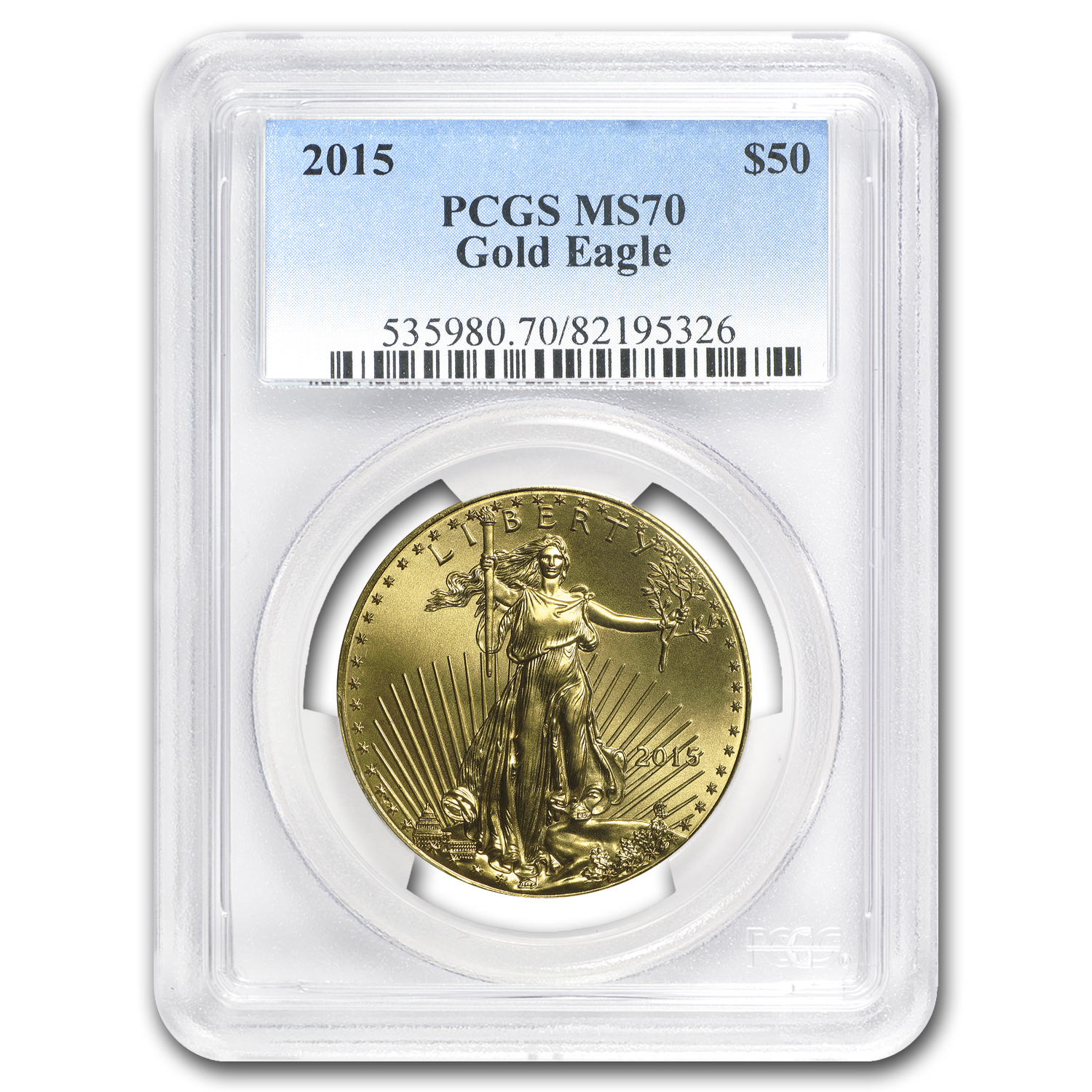 2015 1 oz Gold American Eagle MS-70 PCGS
