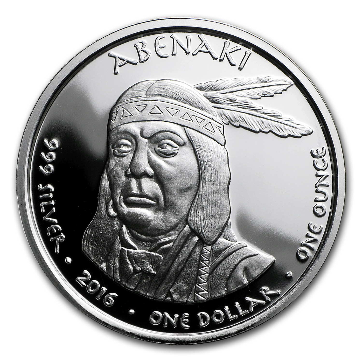 2016 1 oz Silver Proof State Dollars New Hampshire Apenaki