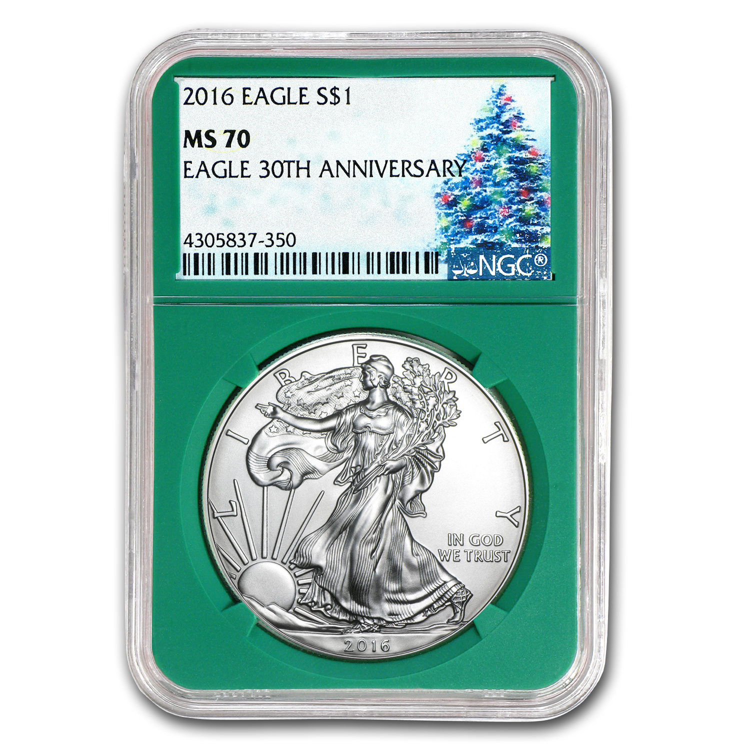 2016 2-Coin Gold and Silver Eagle Set MS-70 NGC (Christmas Label)