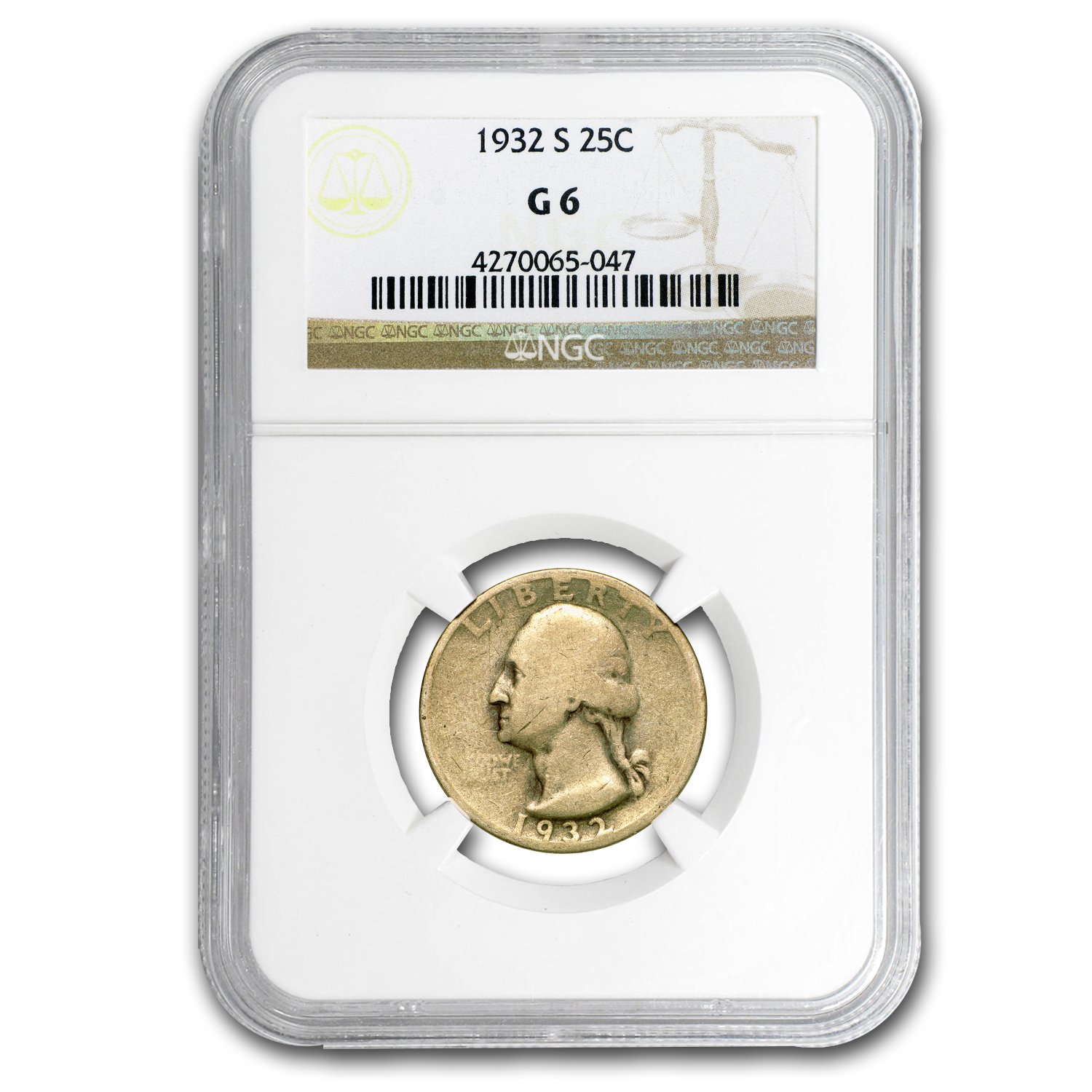 1932-S Washington Quarter Good-6 NGC