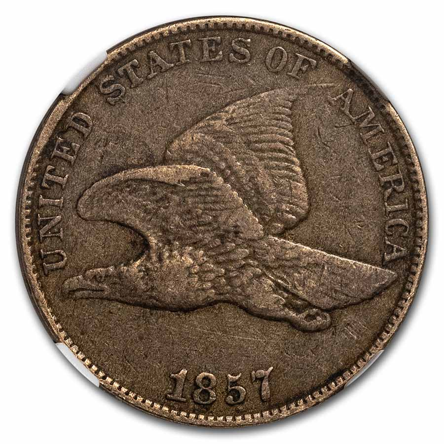 1857 Flying Eagle Cent XF-40 NGC