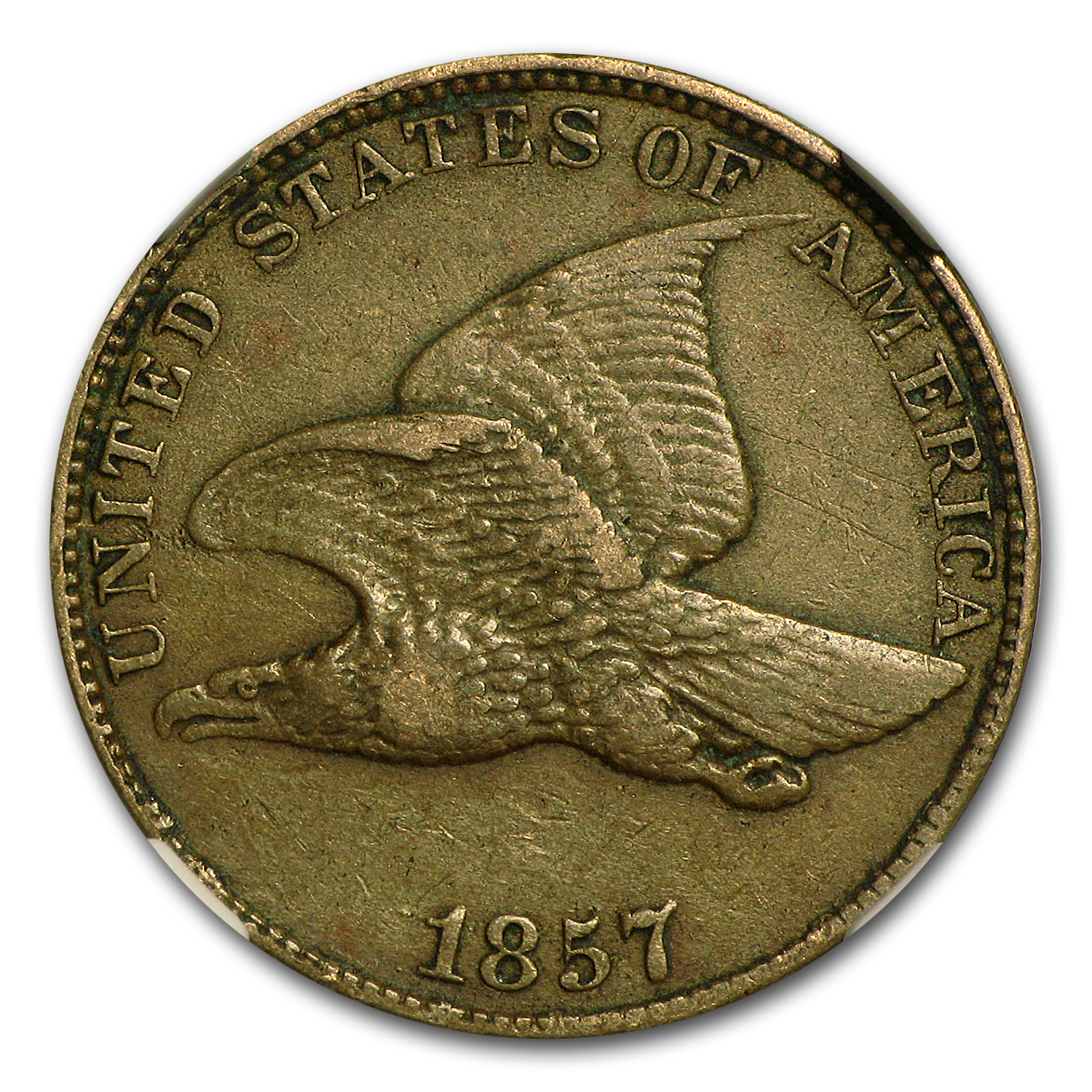 1857 Flying Eagle Cent XF-45 NGC