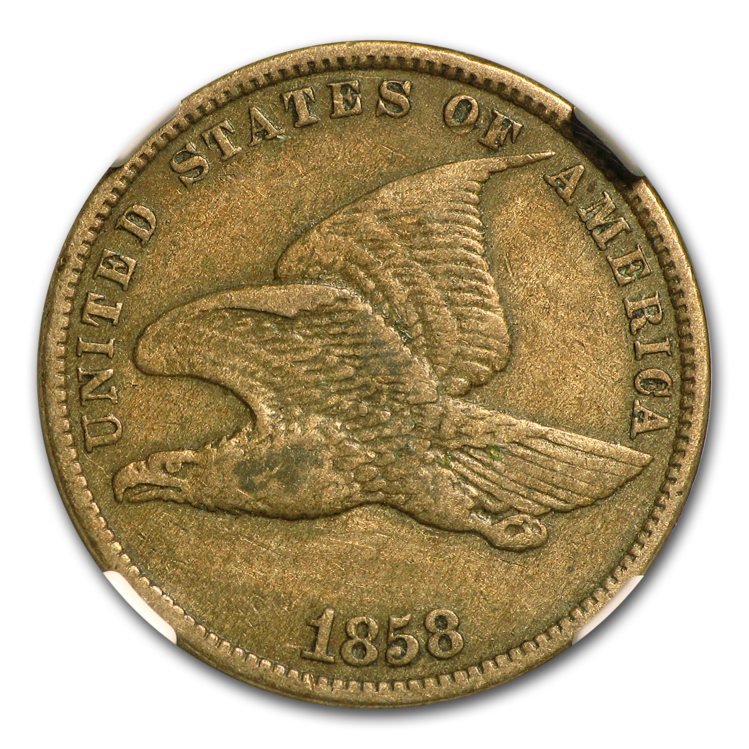 1858 Flying Eagle Cent Small Letters XF-40 NGC