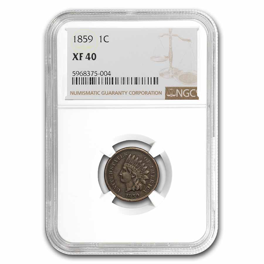 1859 Indian Head Cent XF-40 NGC