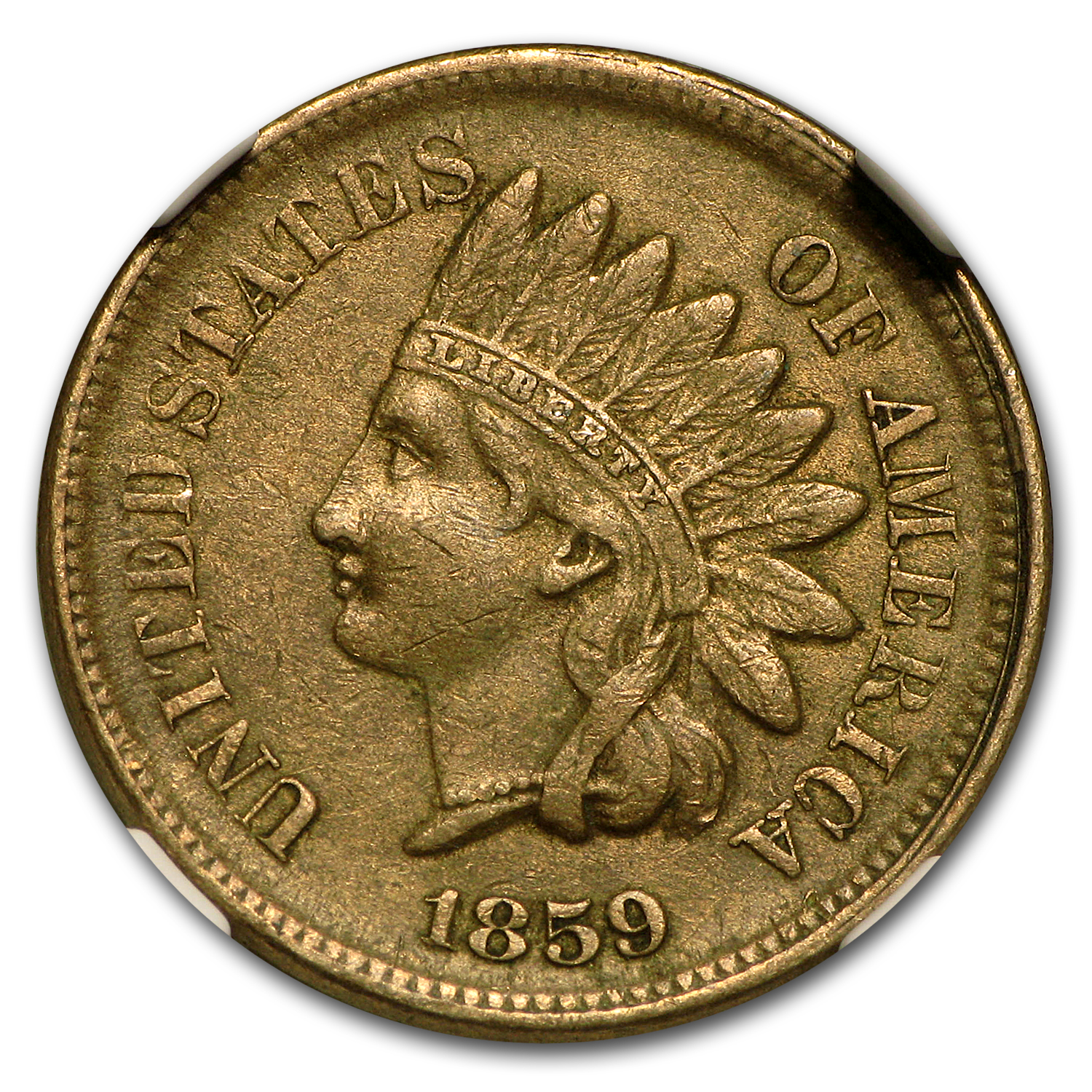 1859 Indian Head Cent AU-50 NGC