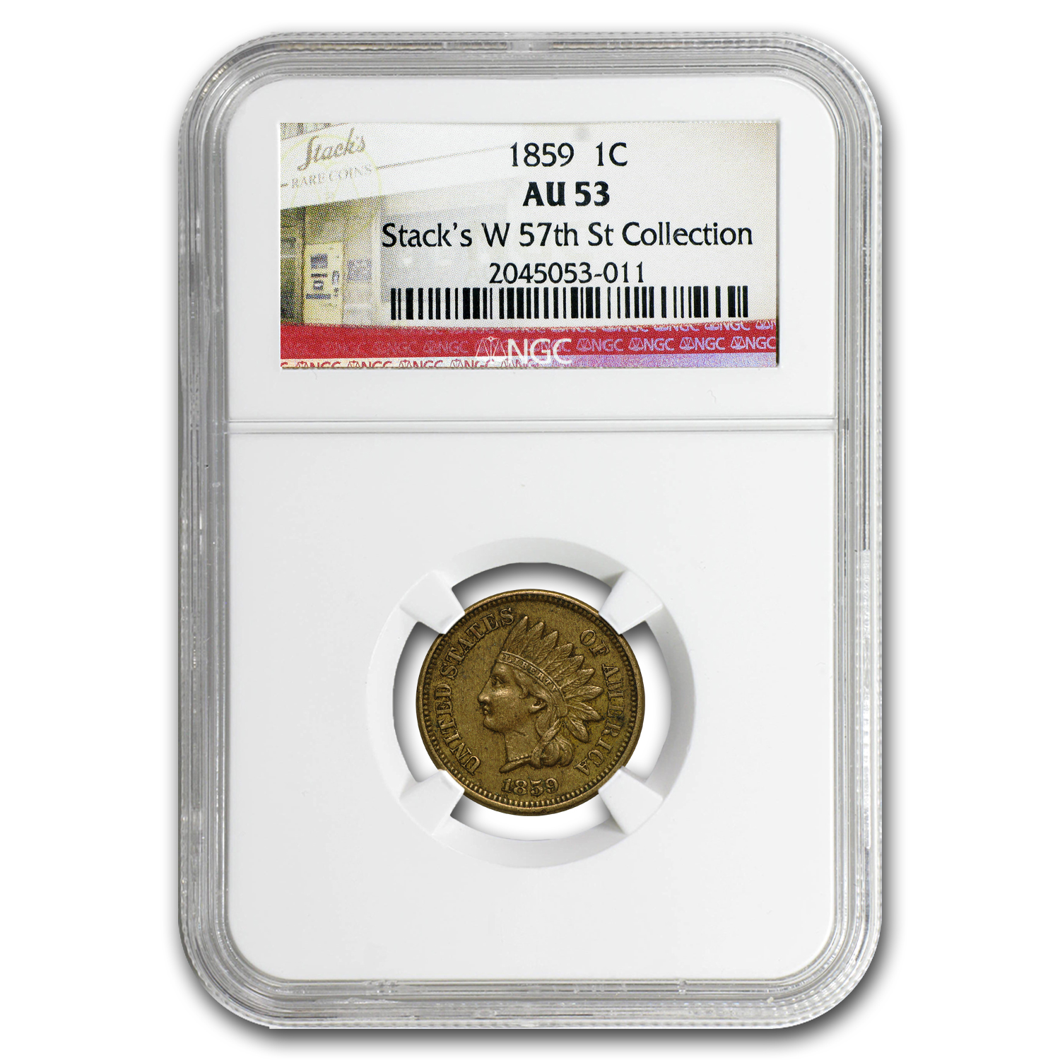 1859 Indian Head Cent AU-53 NGC