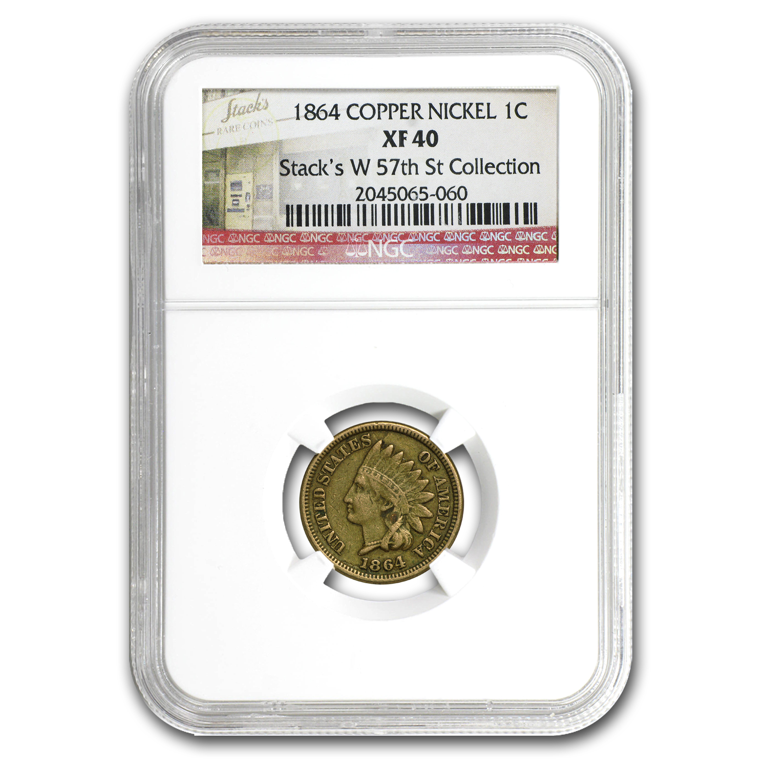 1864 Indian Head Cent XF-40 NGC (CN)
