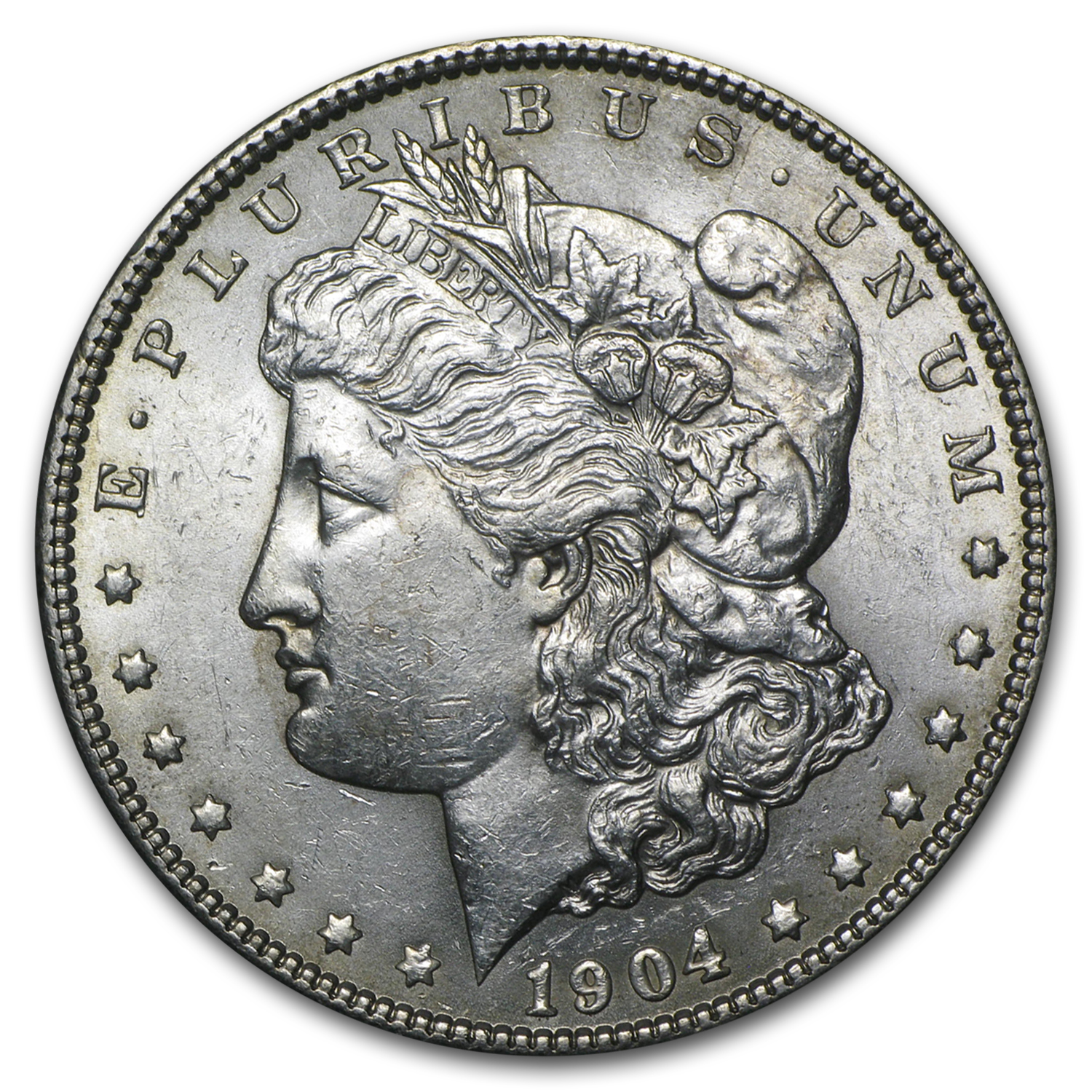 1904 Morgan Dollar AU-58