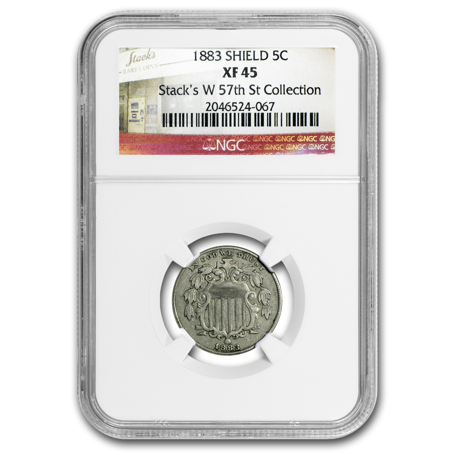 1883 Shield Nickel XF-45 NGC