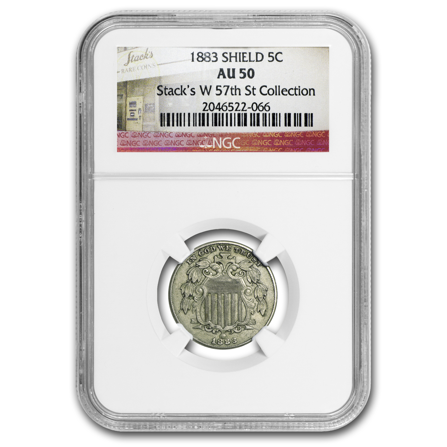 1883 Shield Nickel AU-50 NGC