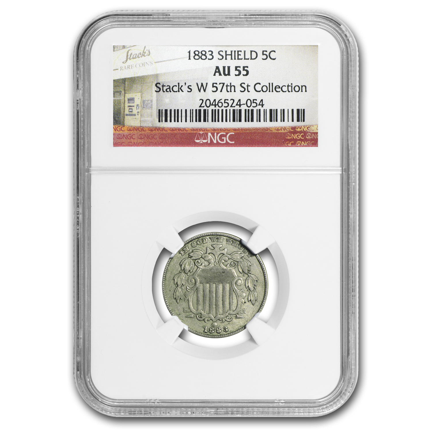 1883 Shield Nickel AU-55 NGC
