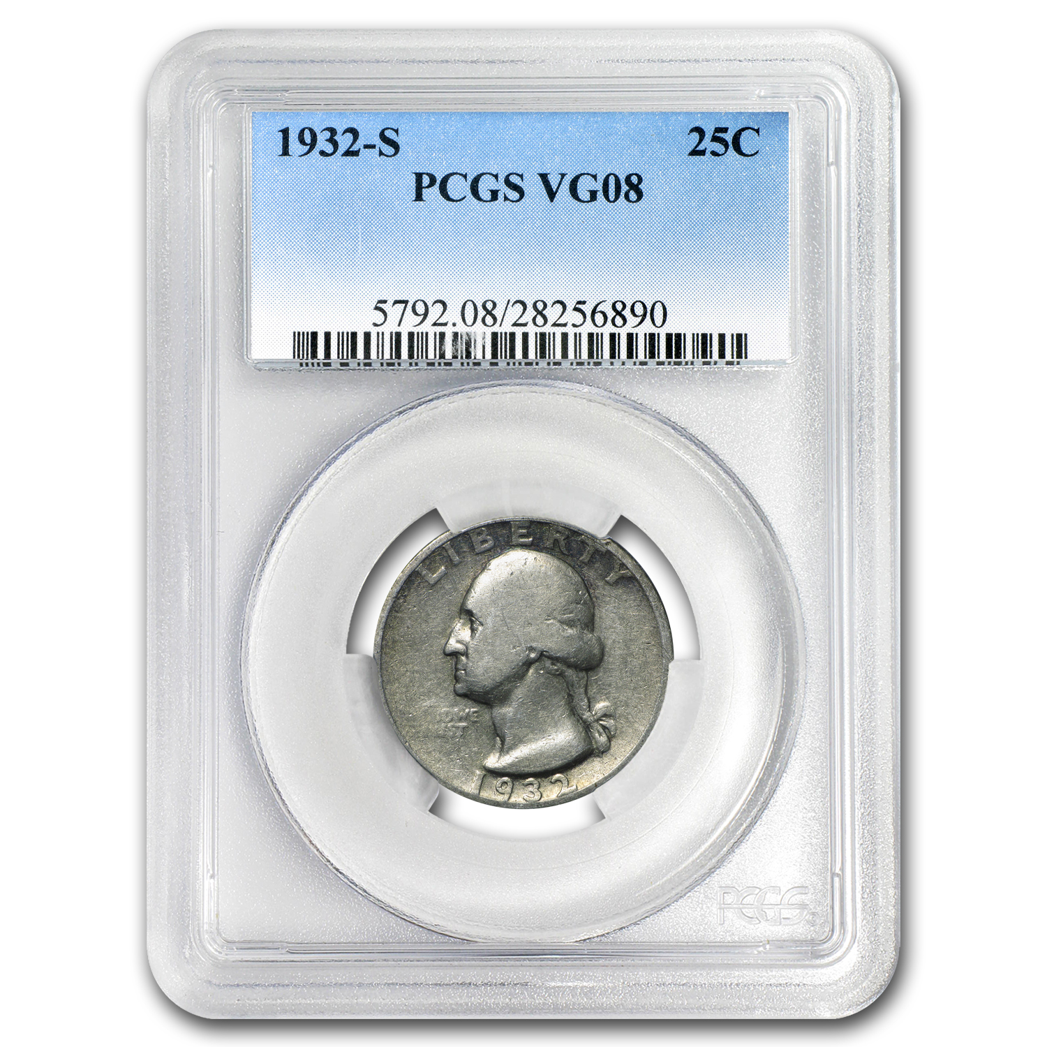1932-S Washington Quarter VG-8 PCGS