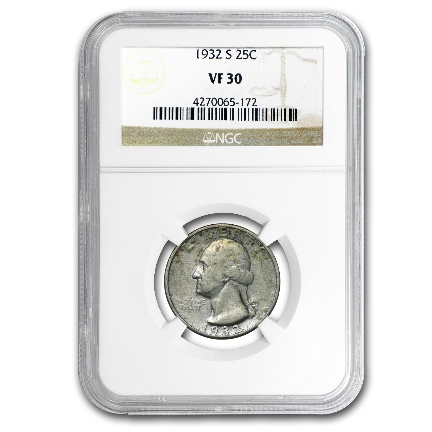 1932-S Washington Quarter VF-30 NGC