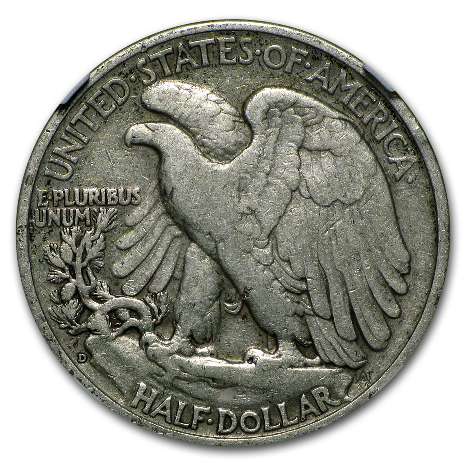 1938-D Walking Liberty Half Dollar VF-20 NGC