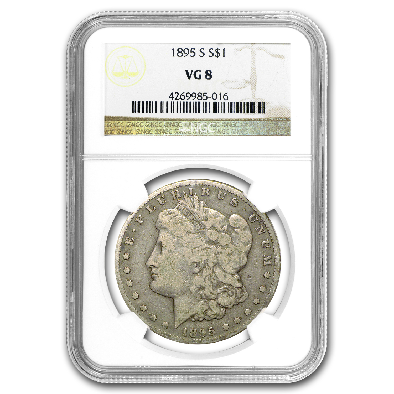1895-S Morgan Dollar VG-8 NGC