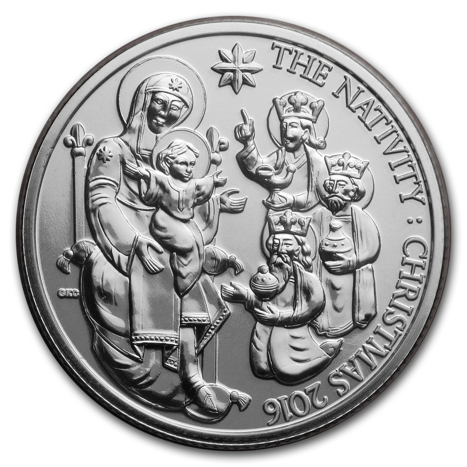 2016 Great Britain £20 Silver Christmas Nativity Story
