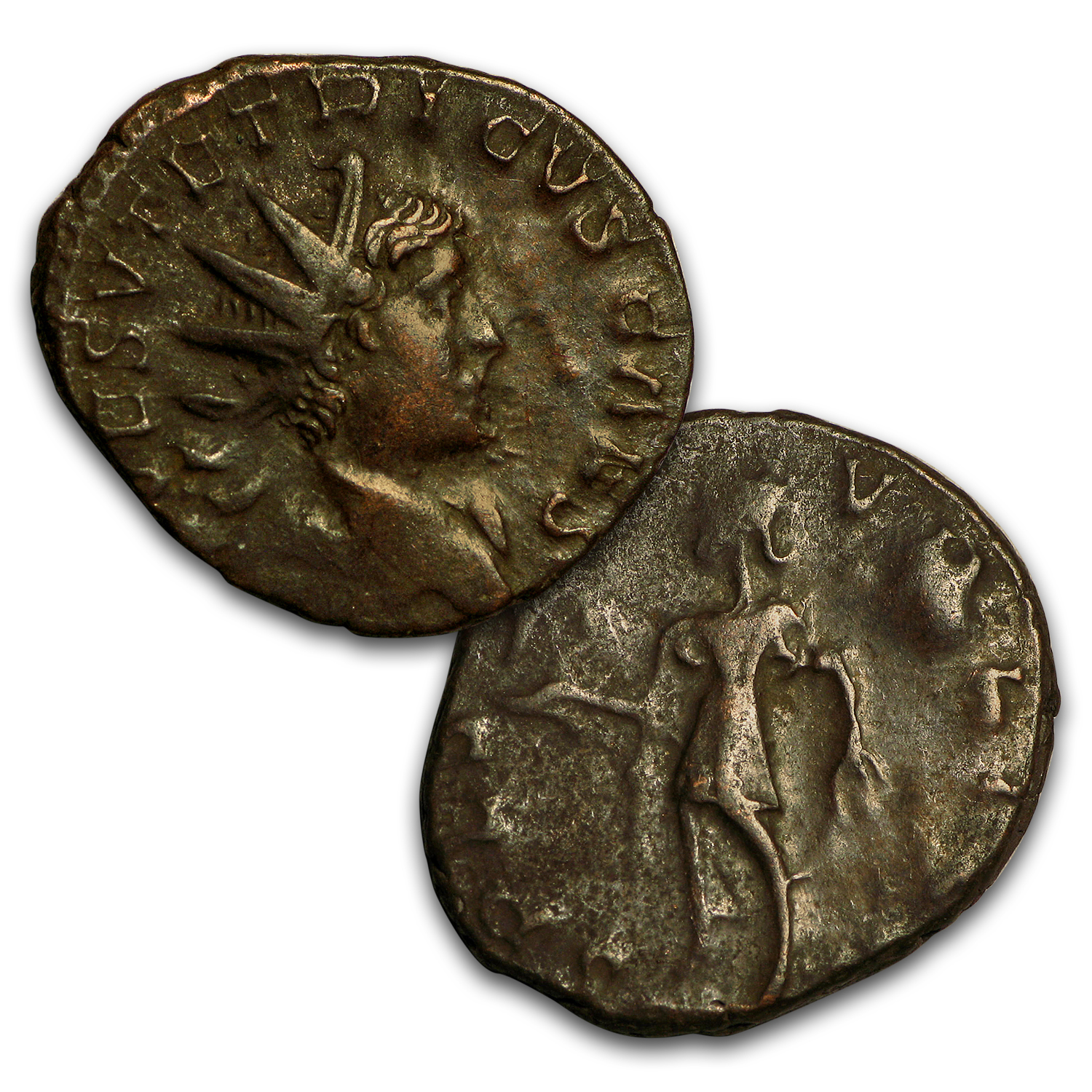 Roman Bronze 8-Coin Collection Rise and Fall of the Gallic Empire