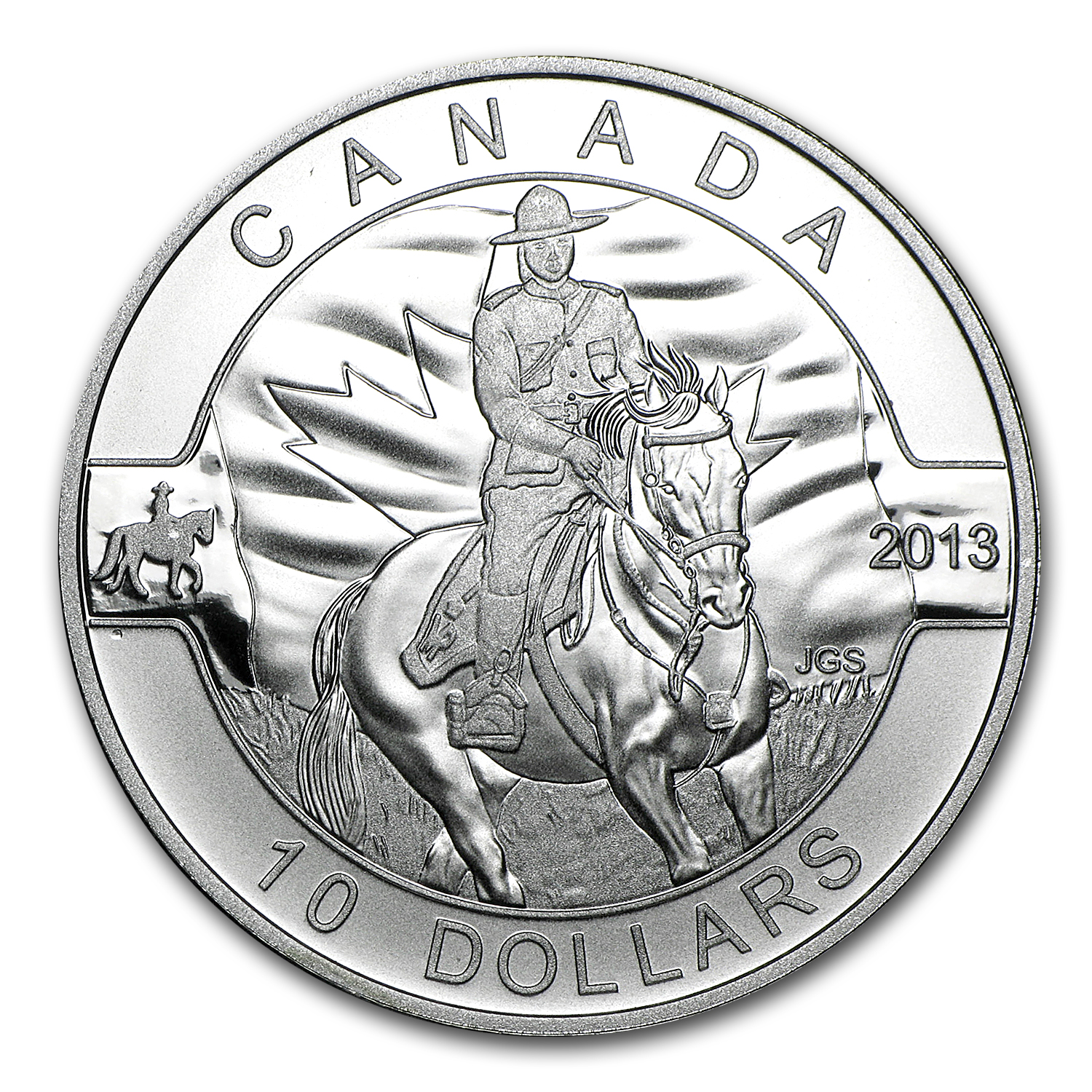 2013 Canada 1/2 oz Silver $10 Royal CAN Mounted Police (Capsule)