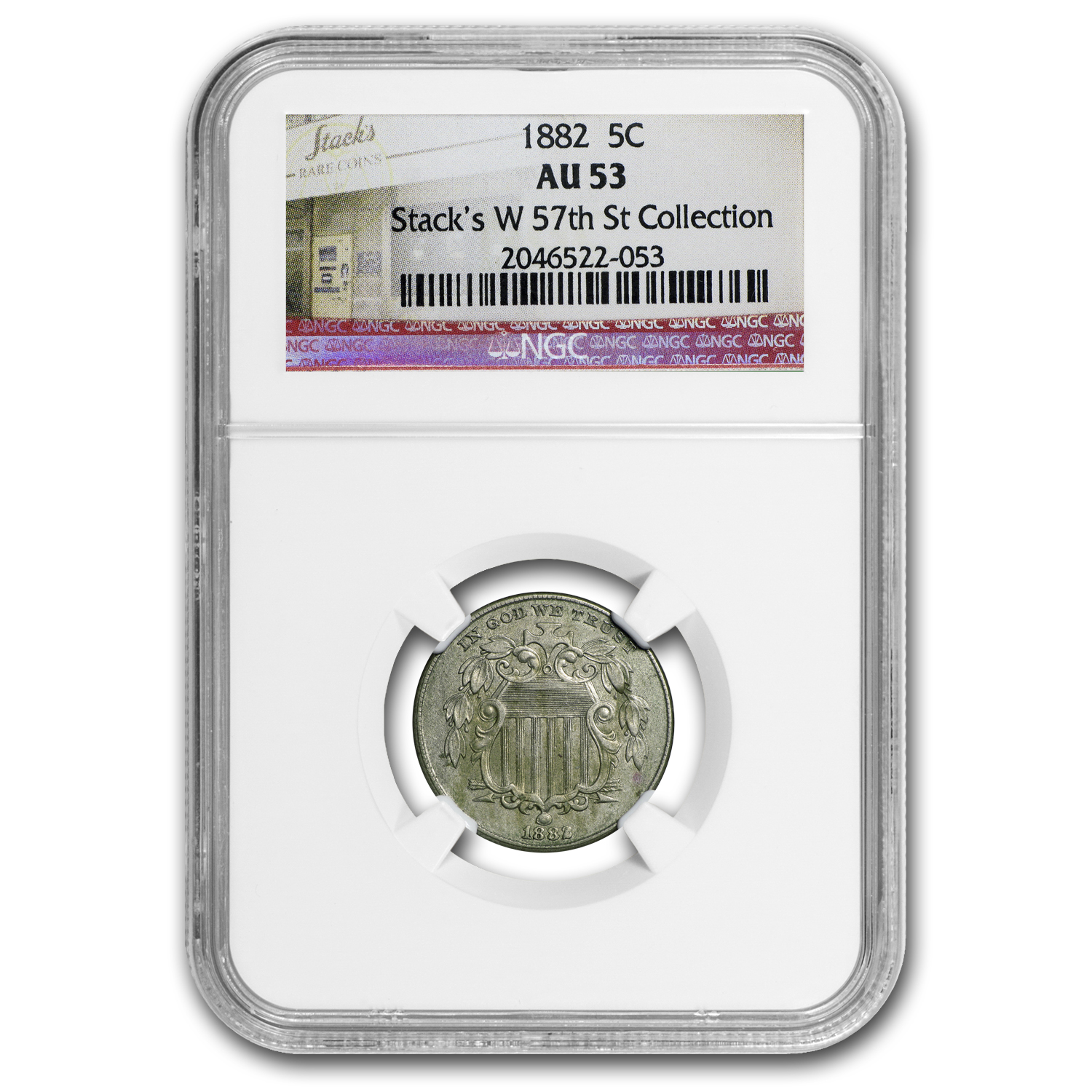 1882 Shield Nickel AU-53 NGC