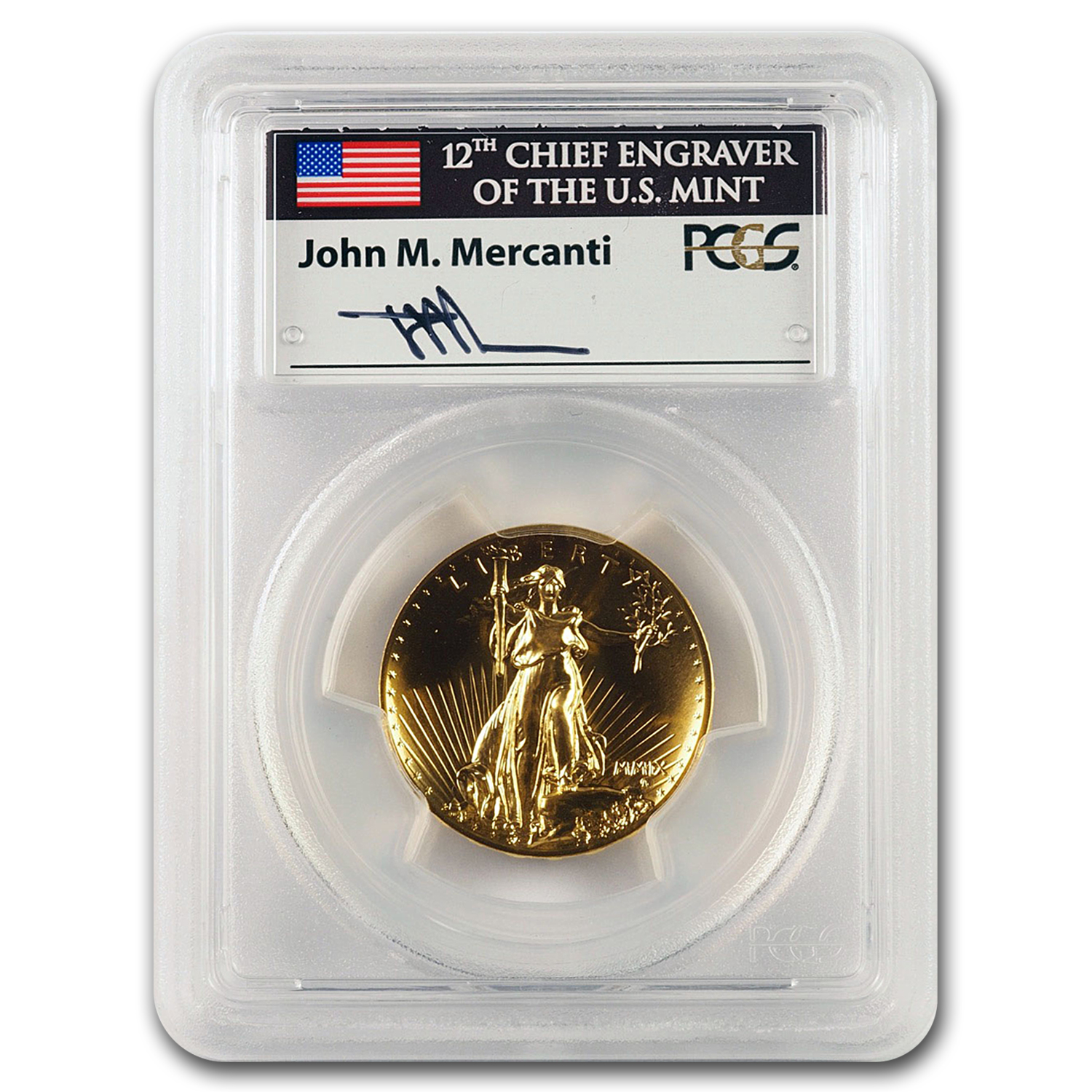 2009 Ultra High Relief Gold Double Eagle MS-70 PL PCGS (Mercanti)