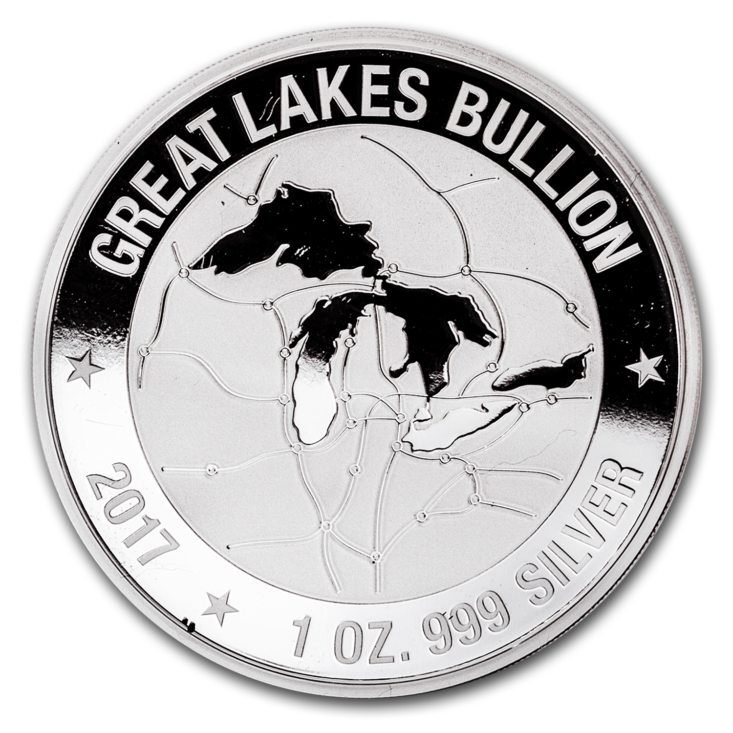 1 oz Silver Round - Great Lakes Bullion Landscape