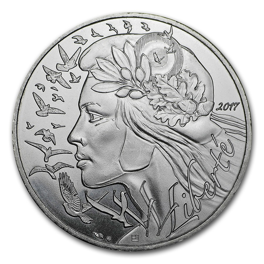2016 France Silver 10 Marianne Other Commemorative