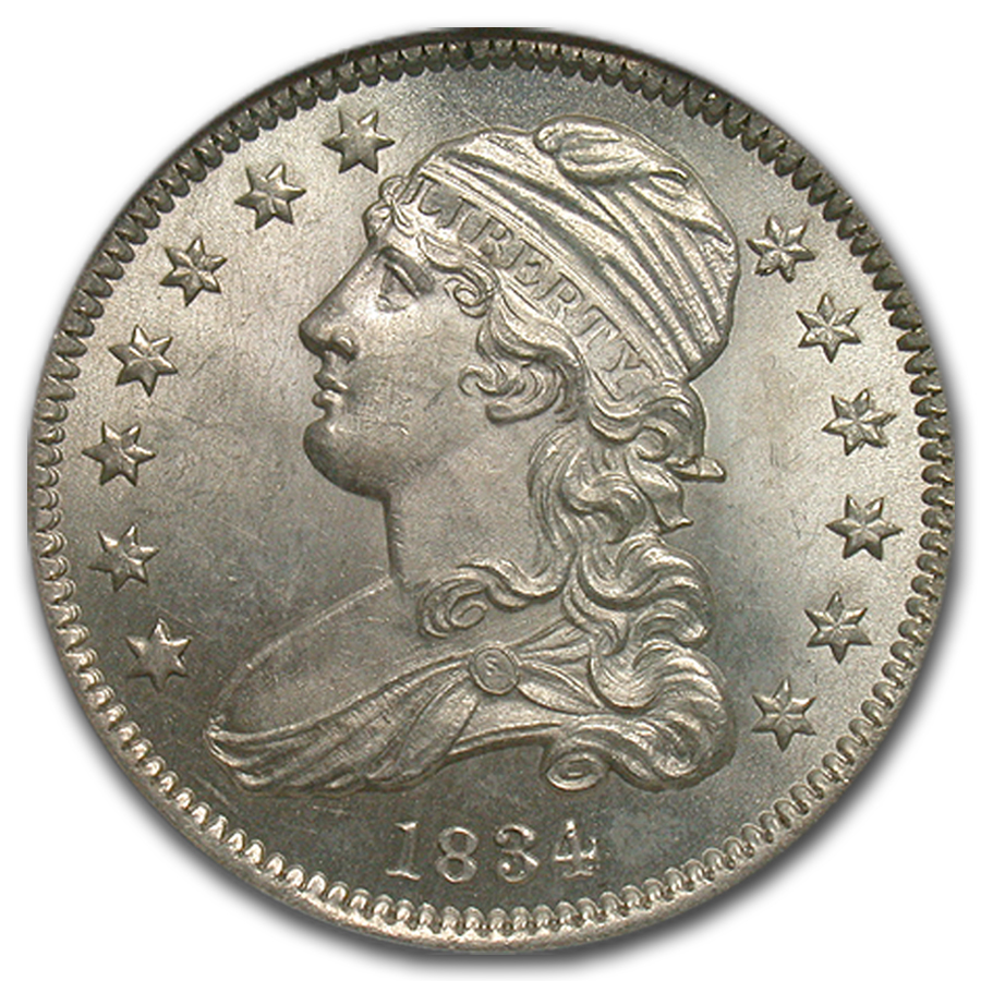 1834 Capped Bust Quarter MS-66 NGC