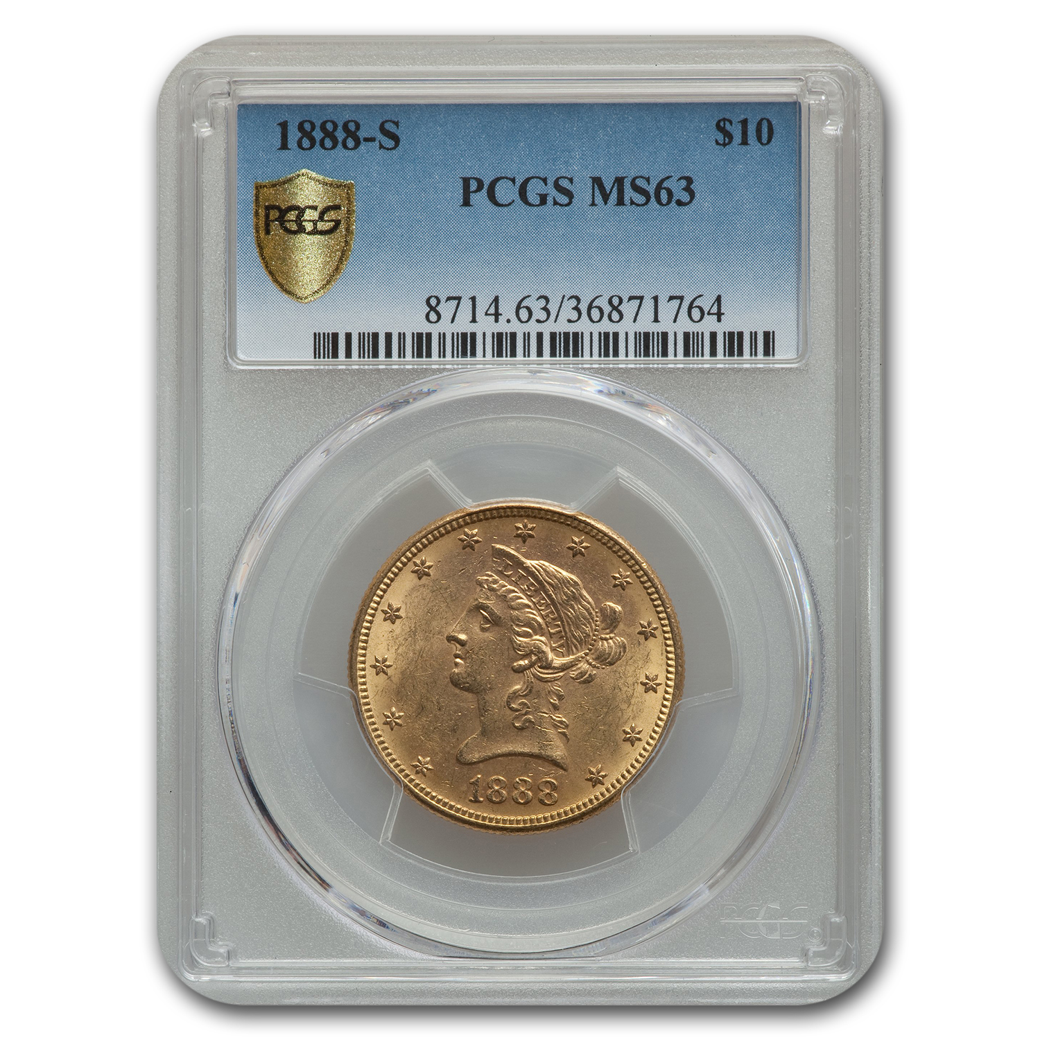 1888-S $10 Liberty Gold Eagle MS-63 PCGS
