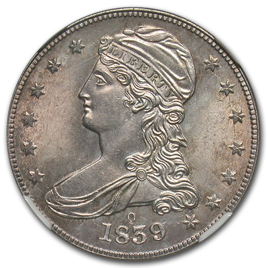 1839-O Reeded Edge Half-Dollar MS-65 NGC