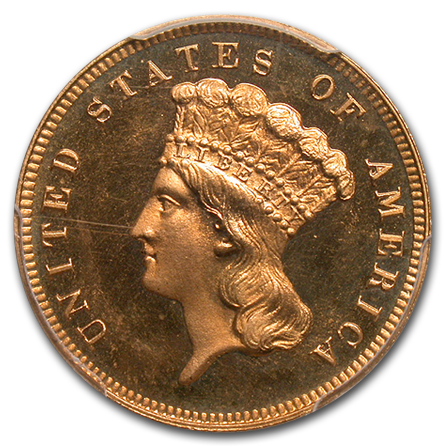 1887 $3 Gold Princess PR-66 Cameo PCGS