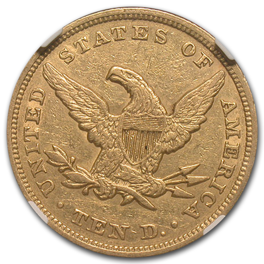 1850 $5 Liberty Gold Half Eagle AU-50 NGC