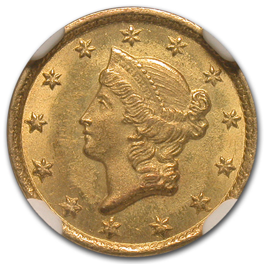 1852-C $1 Liberty Head Gold Dollar MS-65 NGC