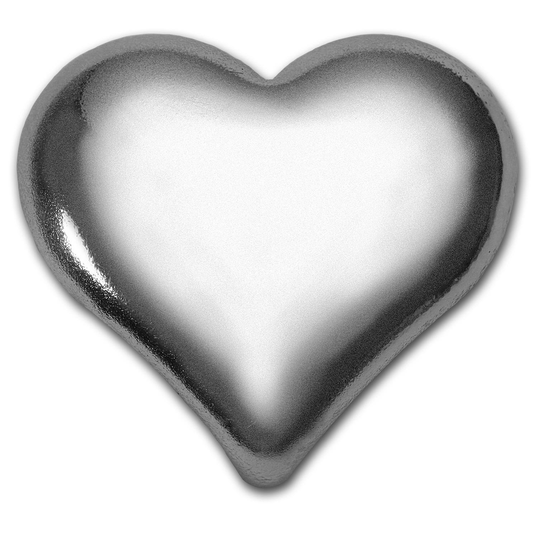 1 Oz Silver Heart Bar Geiger Edelmetalle Geiger