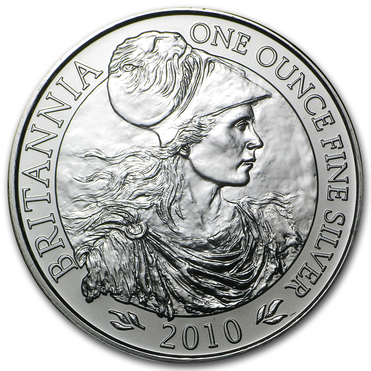 2010 Great Britain 1 oz Silver Britannia BU (Sealed Bag of 100)