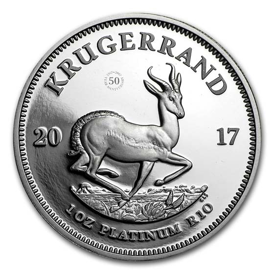 2017 South Africa 1 oz Platinum Krugerrand Proof