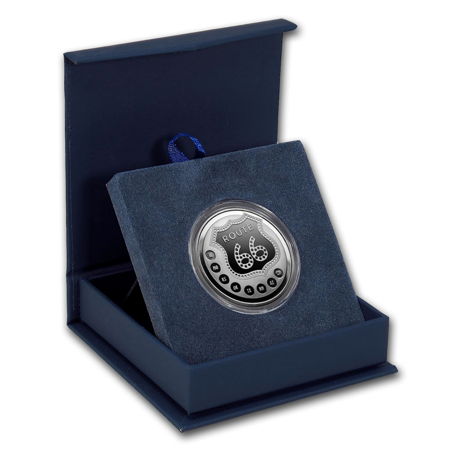 1 oz Silver Round - Get Your Kicks on Route 66 (w/Gift Box)