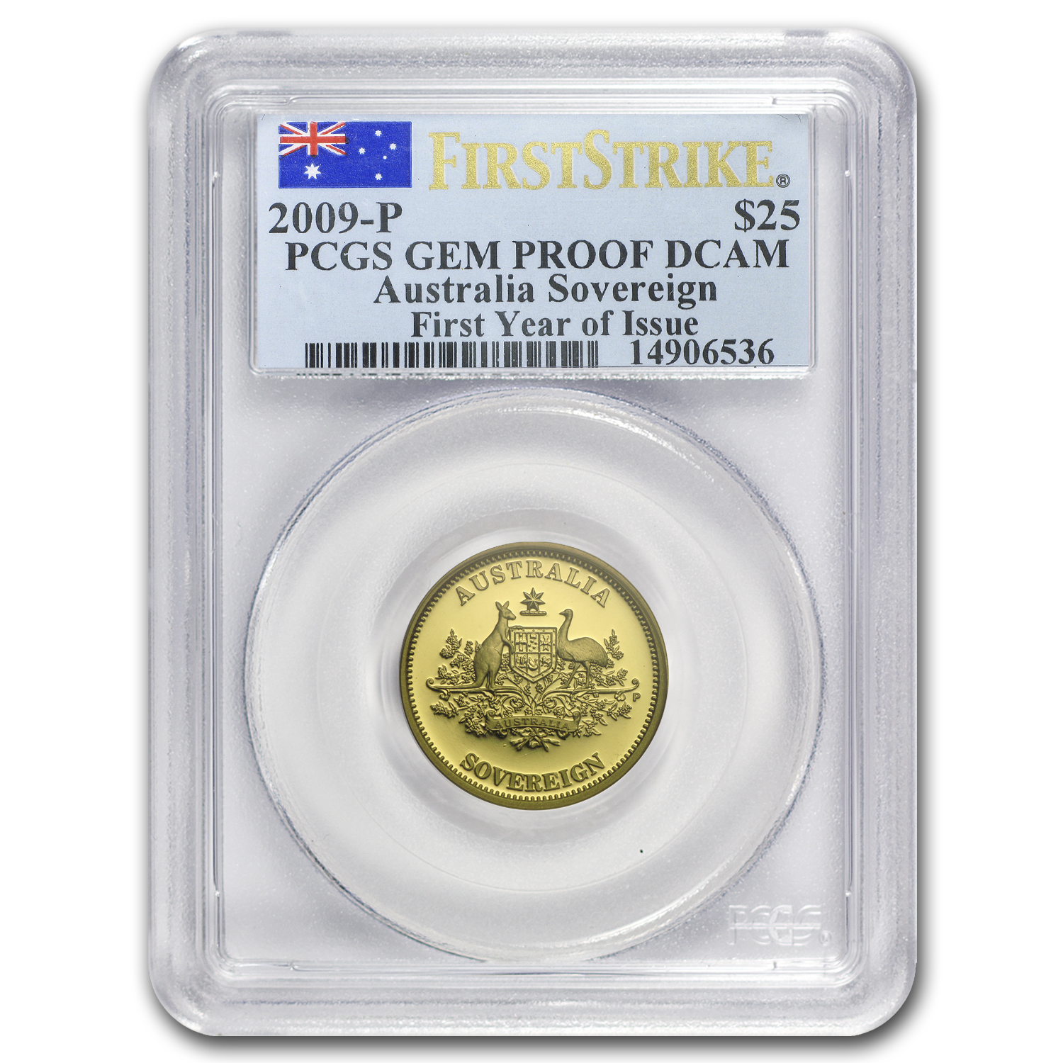2009 Australia Gold Sovereign Gem Proof PCGS (FS, First Year)