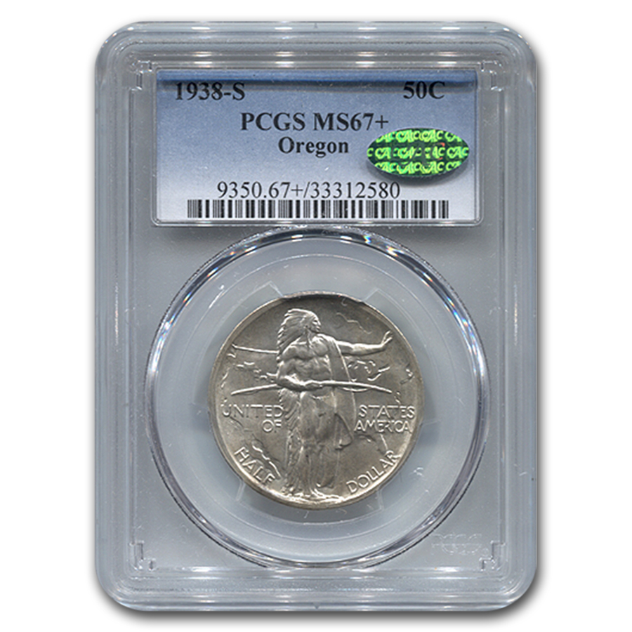 1938-S Oregon Trail Memorial Half Dollar MS-67+ PCGS CAC